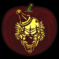 Sinister clown pumpkin stencil pumpkin carving for Creepy clown pumpkin stencil