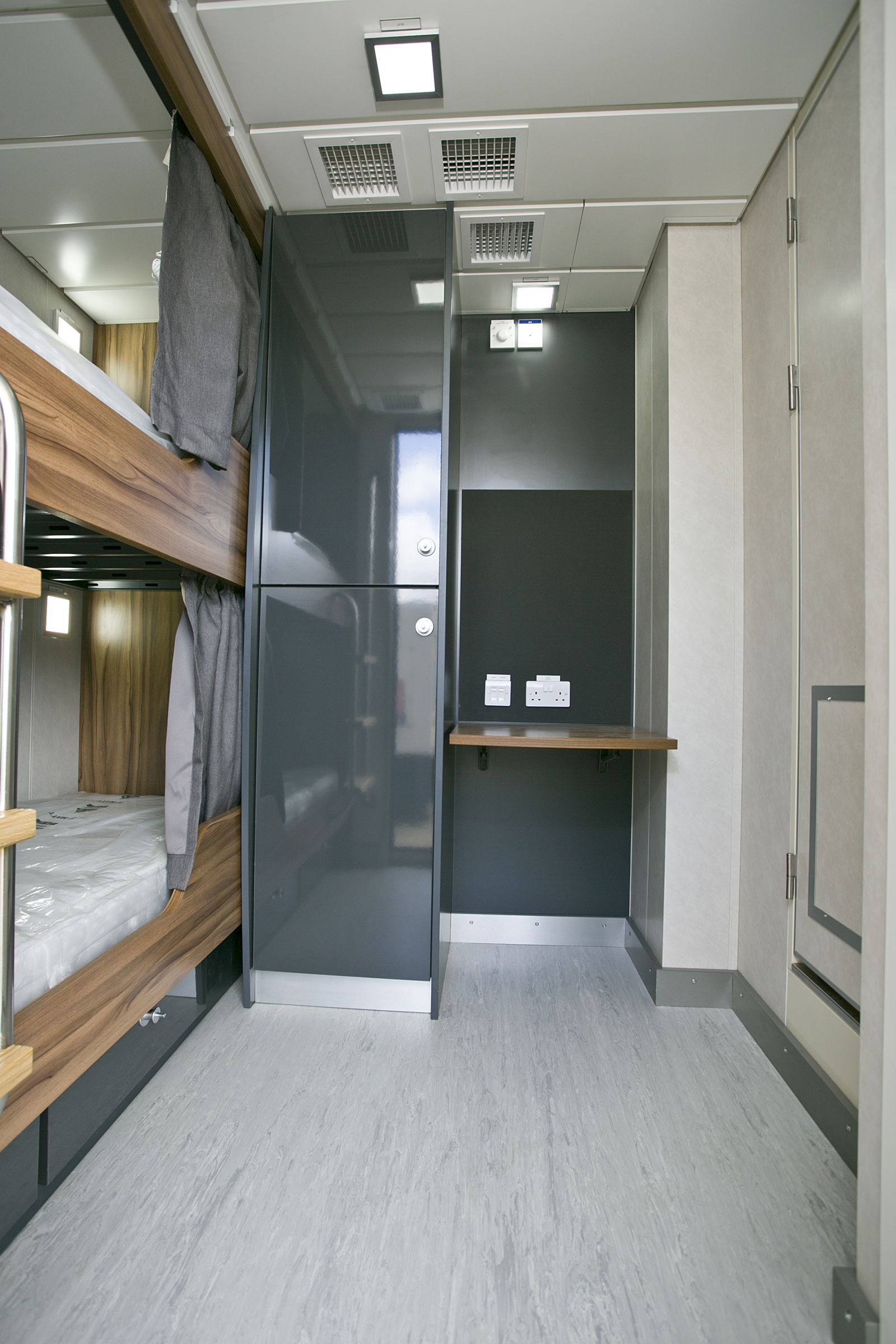 interior shot 6m accommodation unit available from our bases