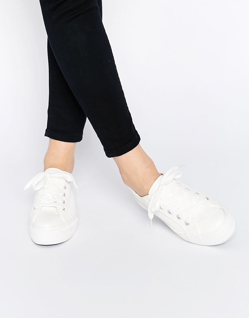 White leather look trainers 2014 new online brand new unisex sale online sale manchester great sale I2fzuEf