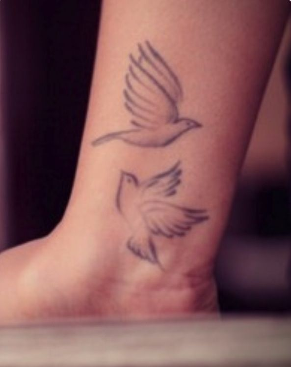 Two Turtle Doves Tattoo Inspiration Represents Eternal