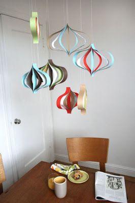 diy: modern paper ornaments