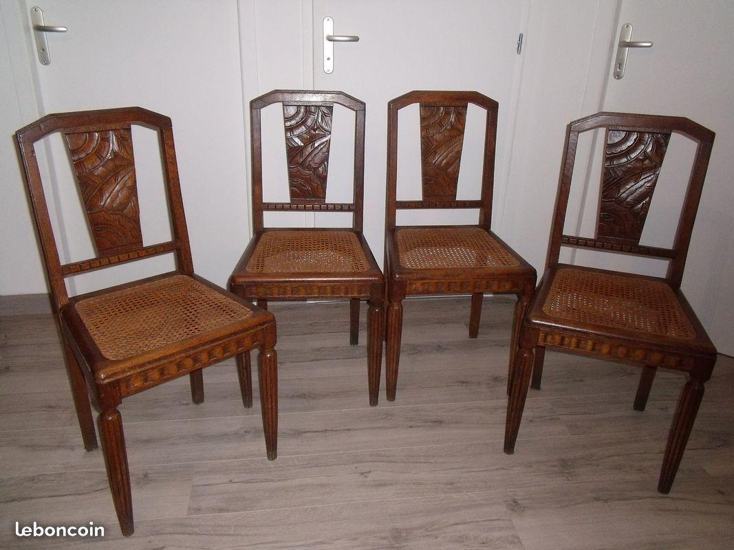 A Vendre 4 Chaises Anciennes Avec Cannage Tres Bon Etat L Unite 30 Les Quatre 100 Chaise Ancienne Chaise 4 Chaises