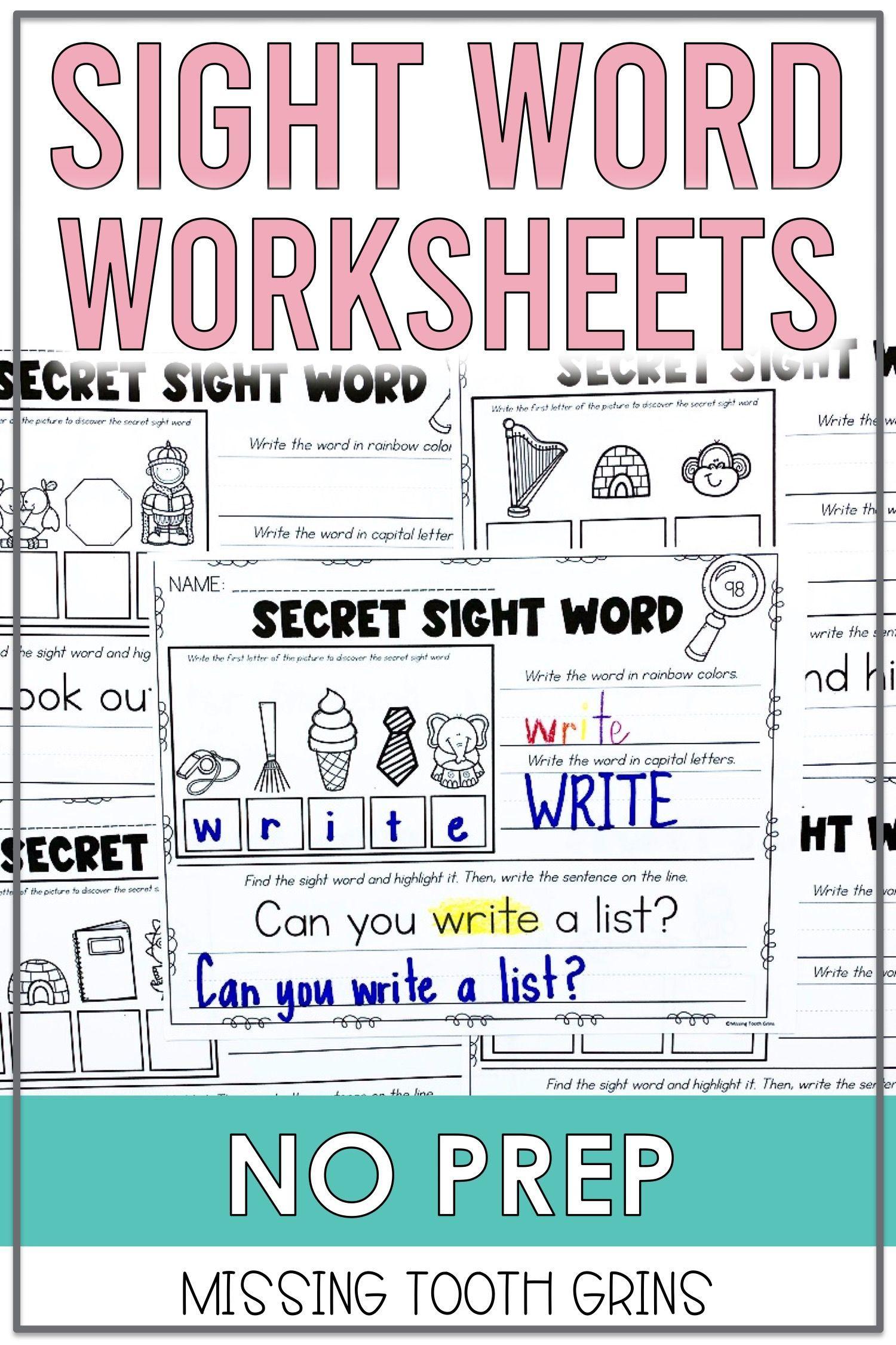 Sight Word Worksheets Sight Word Worksheets Writing Sight Words Sight Words [ 2250 x 1500 Pixel ]