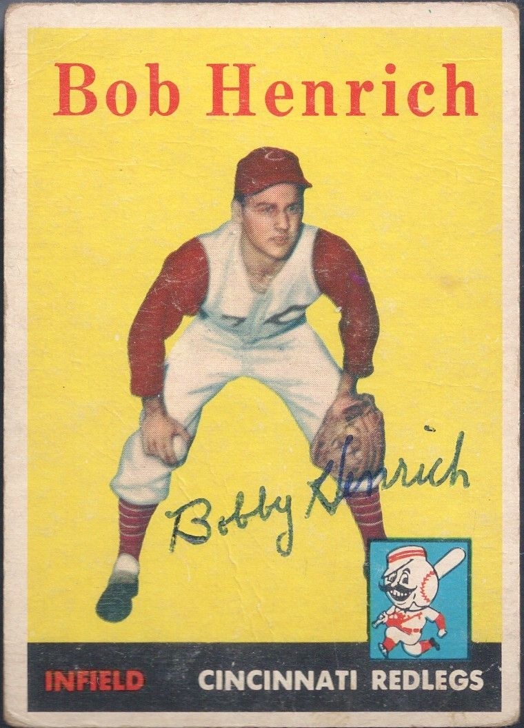 1958 Topps Bobby Henrich autograph (With images) Vintage