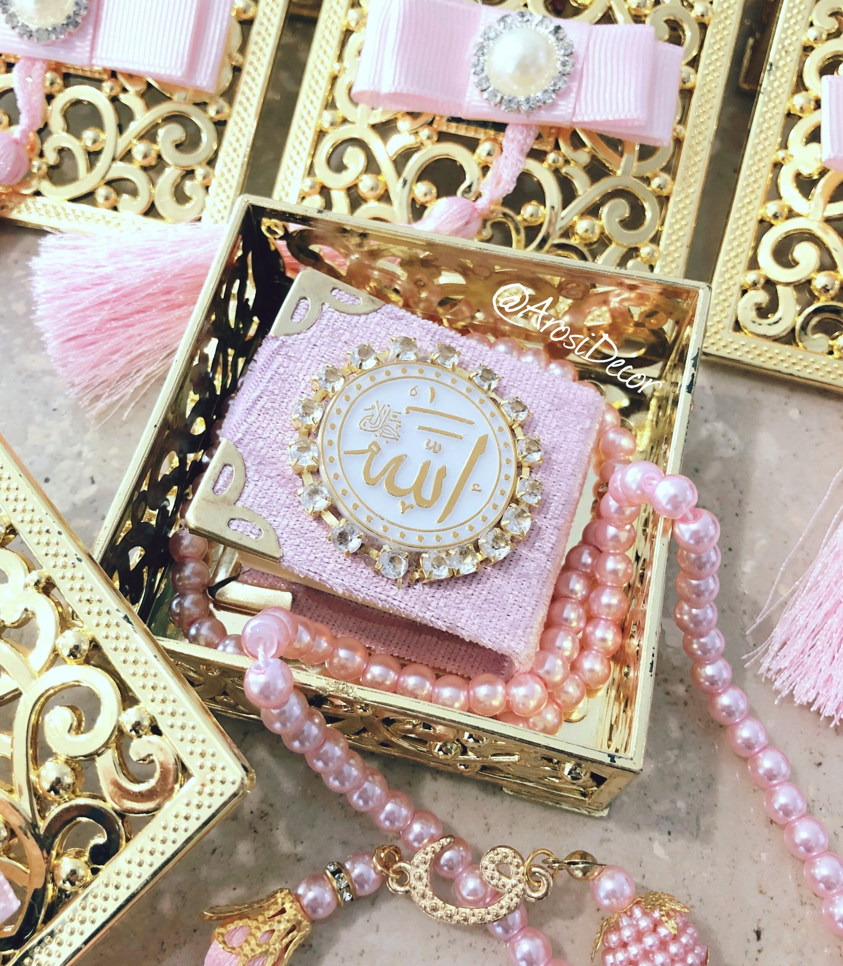 Mini Quran Gift Set Ramadan Ramadangift Eid Eidgift Muslim Islam Miniquran Tasbih Prayerbeads Dua Diy Wedding Favors Wedding Favours Arabian Party