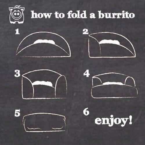 How To Fold A Burrito Burrito Burritos Chipotle Cooking
