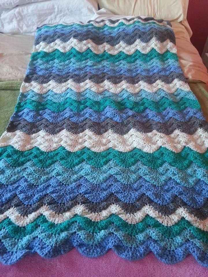 wave afghan | Crochet and Knit ideas | Pinterest
