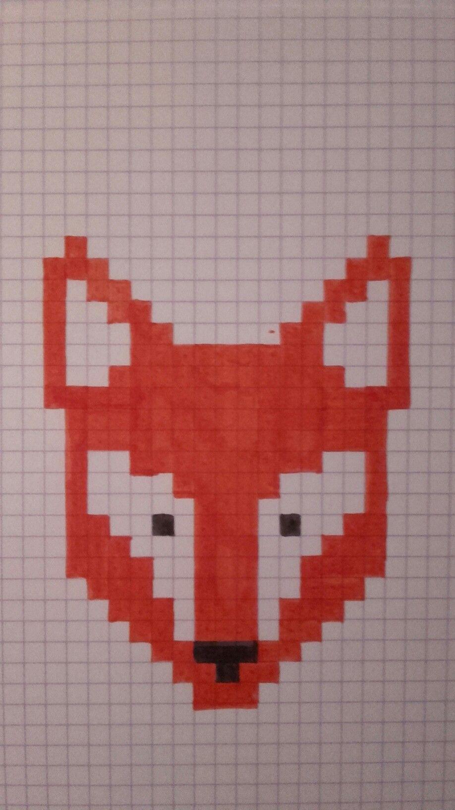 Dessin Pixel Renard