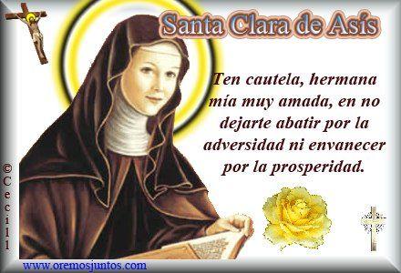 Frases En Imagenes Frases De Santa Clara De Asis Frases De Santos
