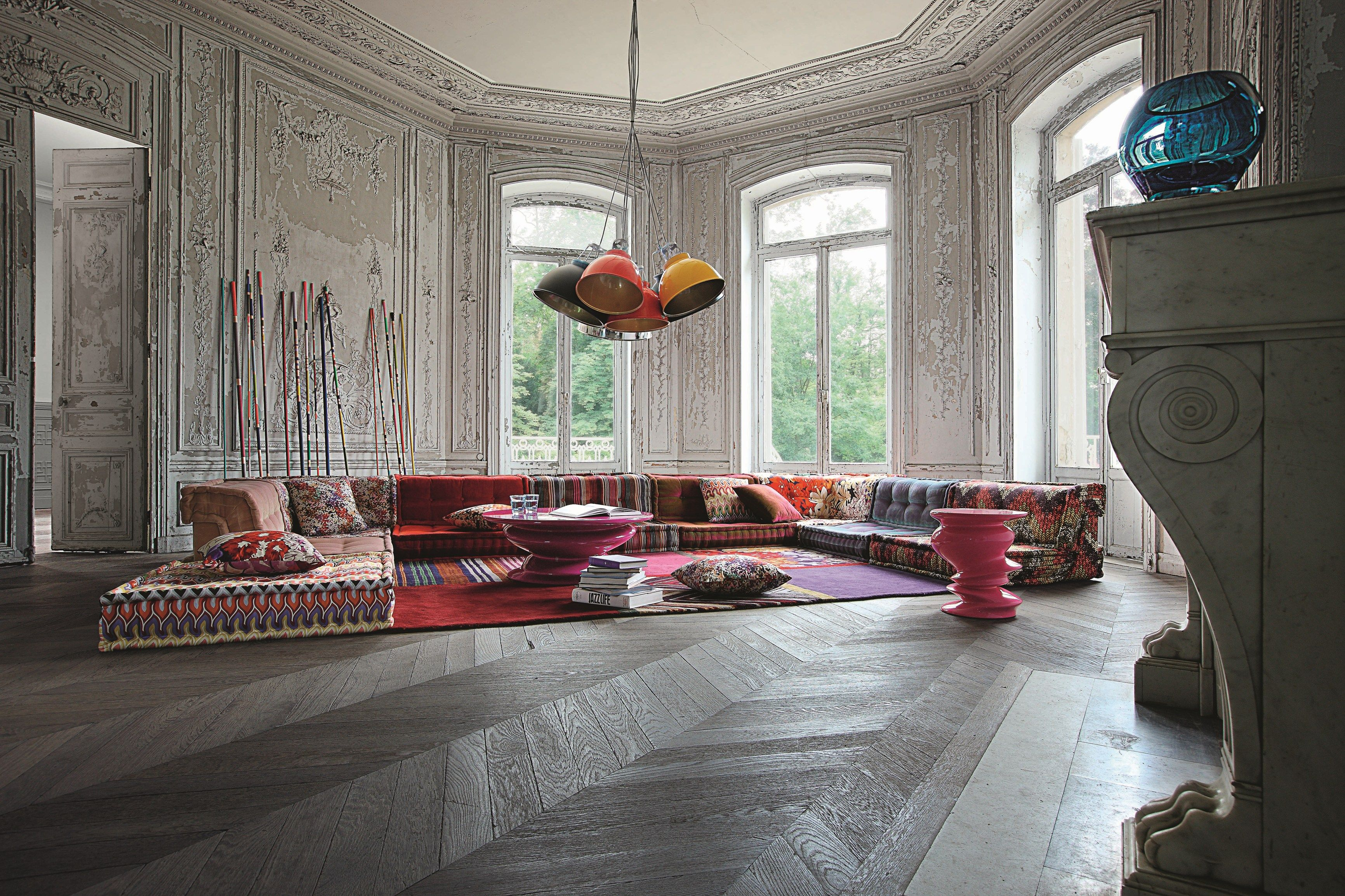 Sectional Fabric Sofa Mah Jong Missoni Home By Roche Bobois Design Hans Hopfer 보헤미안 거실