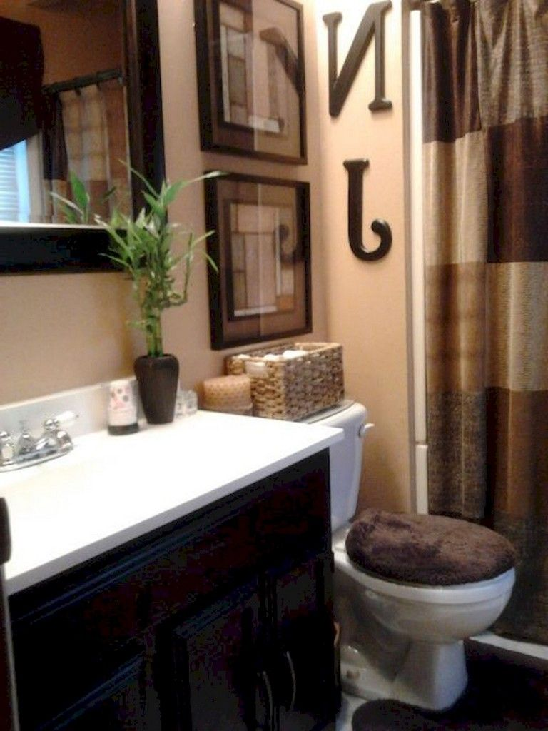 80 Luxury Small Bathroom Decorating Ideas Brown Bathroom