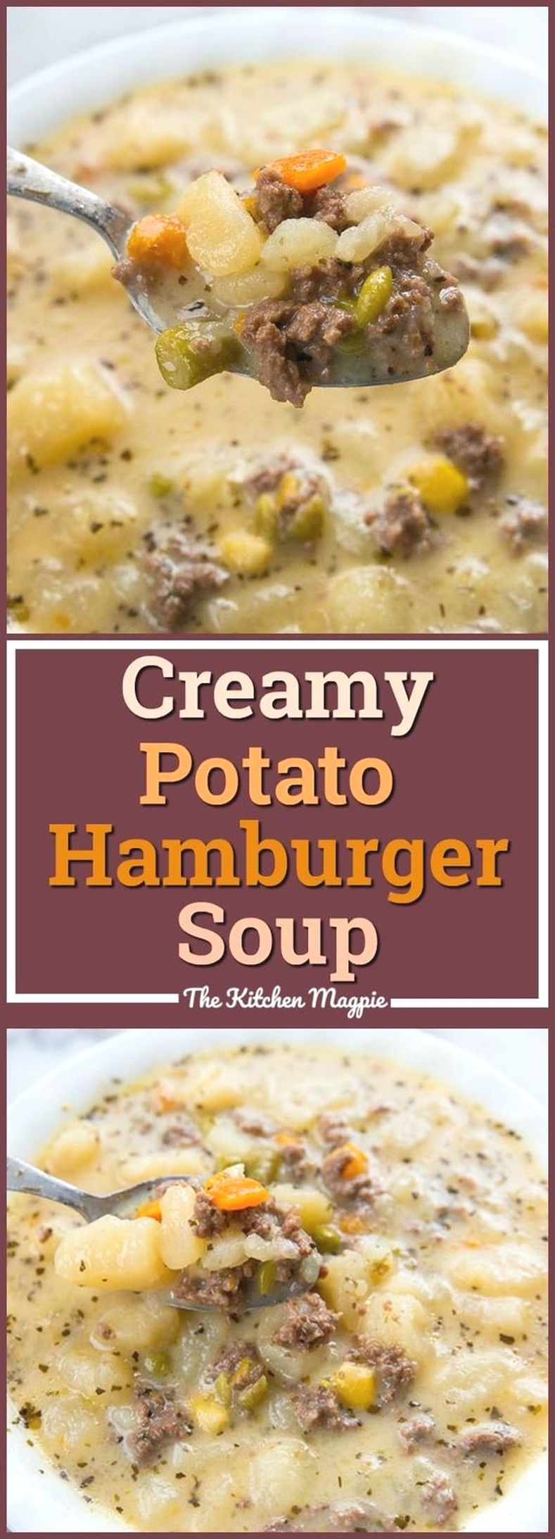Creamy Potato & Hamburger Soup | Easy Soup Recipes Ideas images