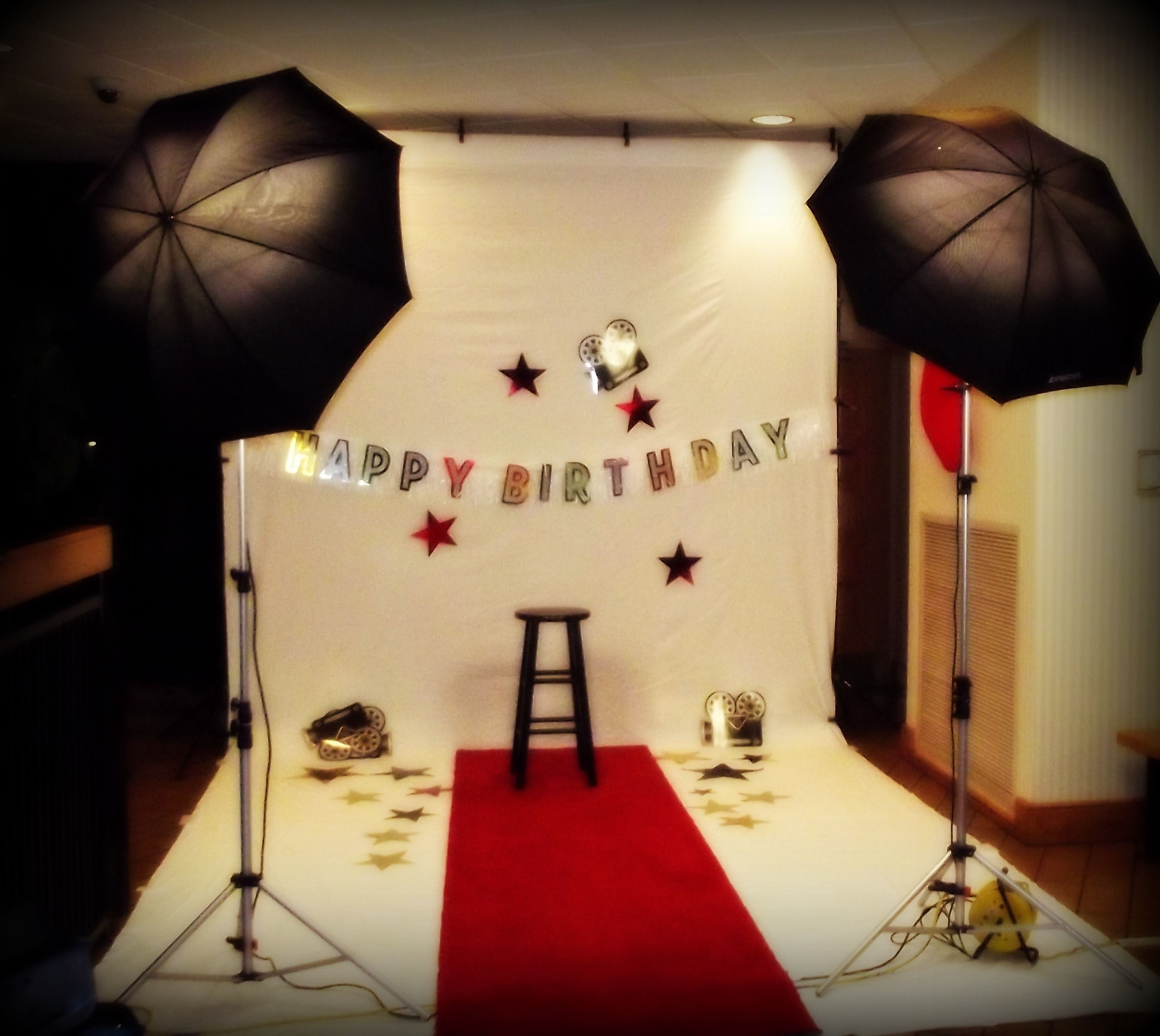 Hollywood theme birthday photo shoot setup fabulous party ideas pinteres - Decor shooting photo ...