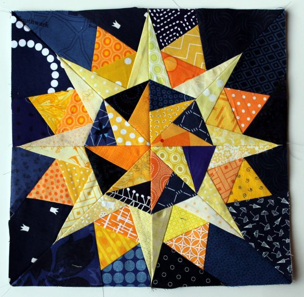 Starry night Cactus Compass block