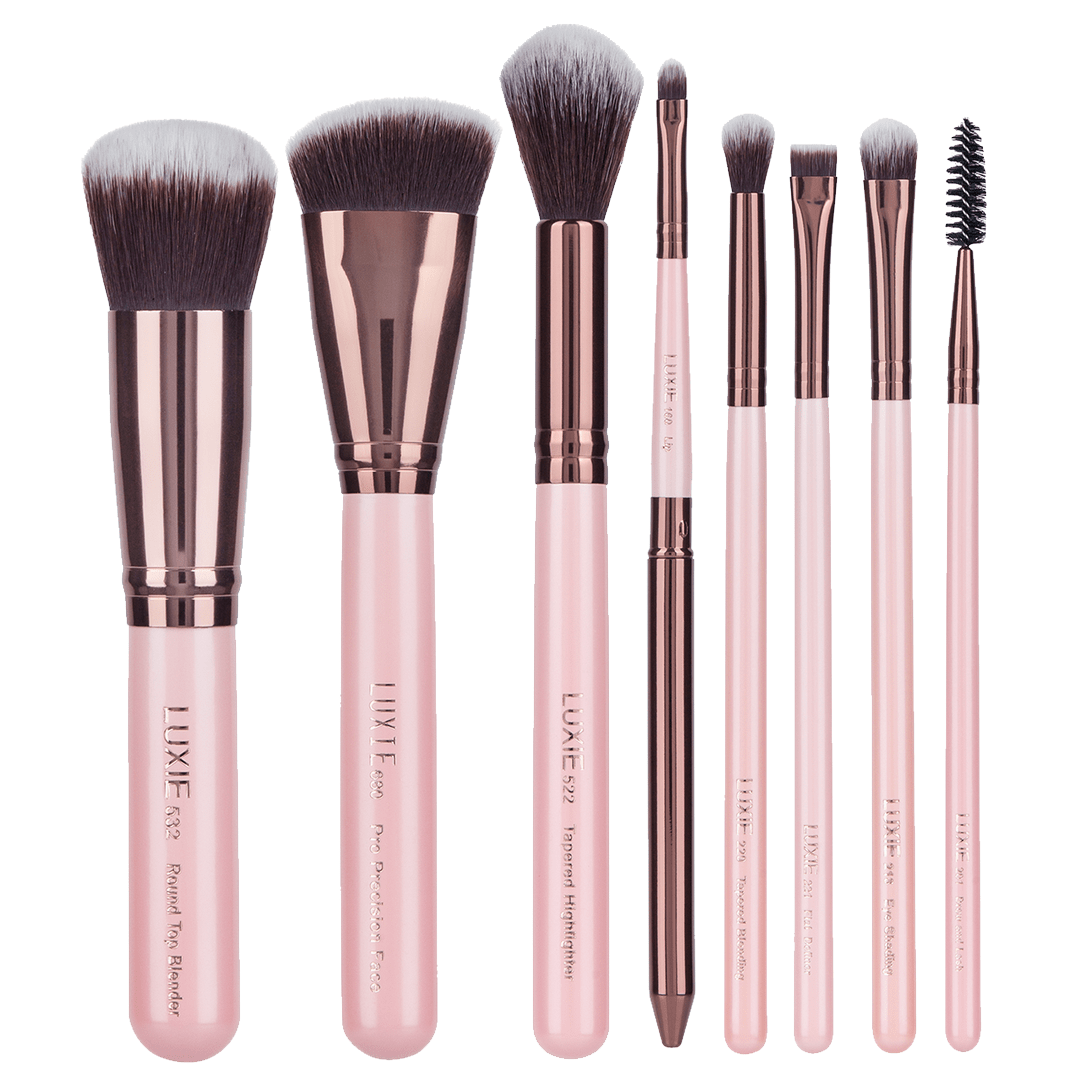 Luxie Complete Face Brush Set Rose Gold Face Brush Set Makeup Brush Set Face Brush