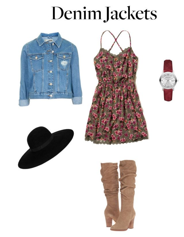 """""""Untitled #319"""" by i-would-prefer-not-to ❤ liked on Polyvore featuring Hollister Co., Topshop, Steve Madden, Burberry and Maison Michel"""