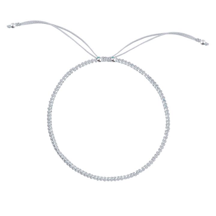 Bracelet macramé tressé avec mini perles en argent 925 en vente à L\u0027Atelier  d\u0027Amaya, bijoux en argent et plaqué or pour femme, homme et enfant.