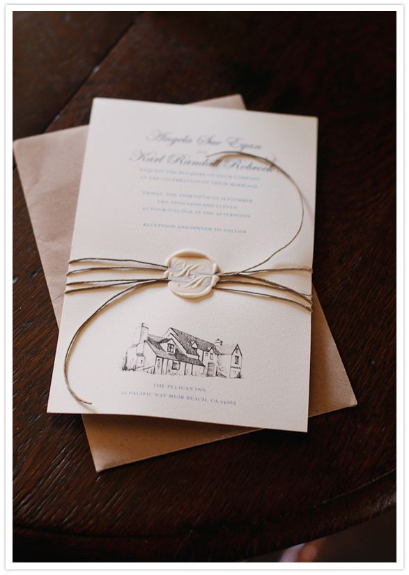 Wedding Ideas Pelican Inn Invitation