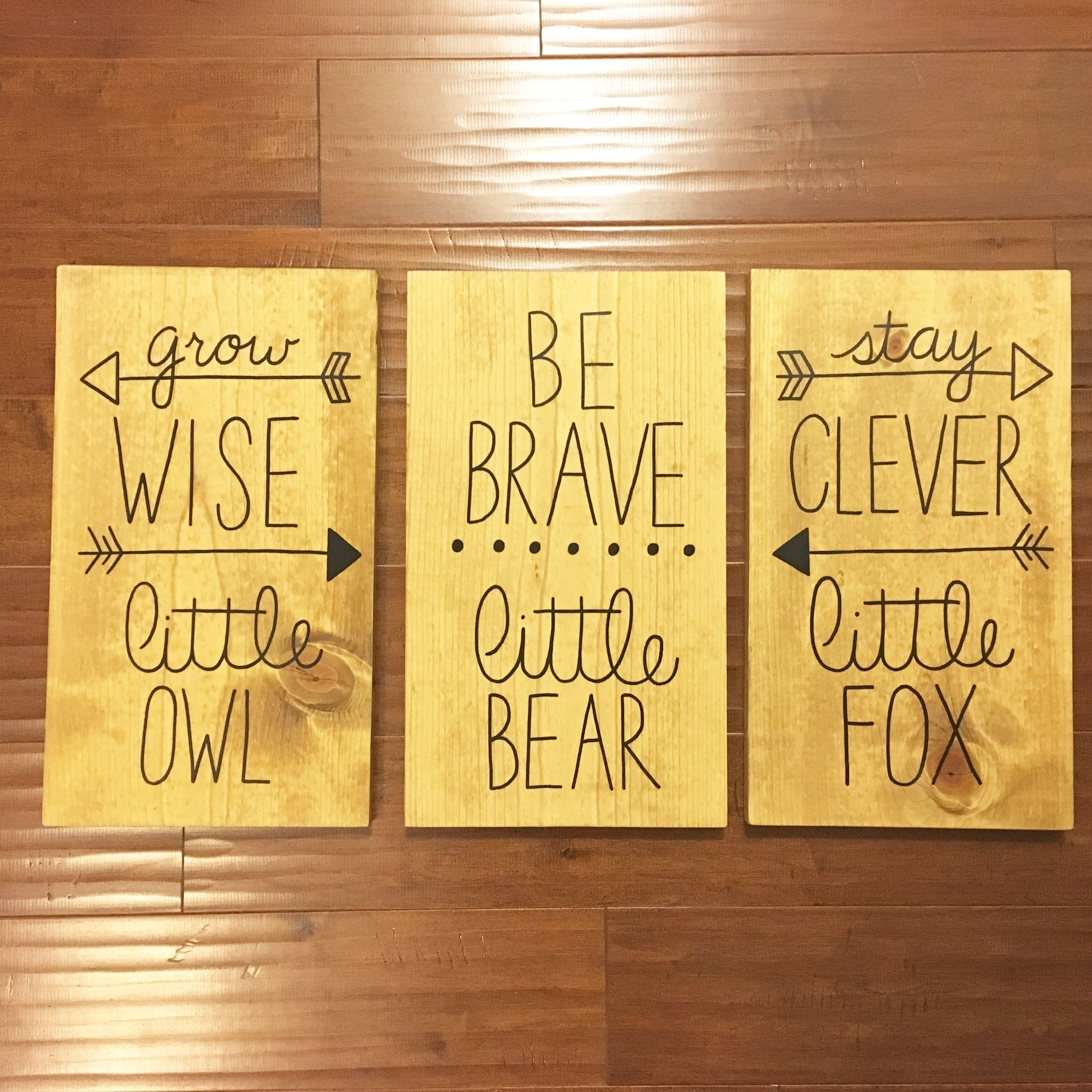 Wood Sign, Baby Shower Gift, Woodland Nursery Decor, Be Brave Little ...