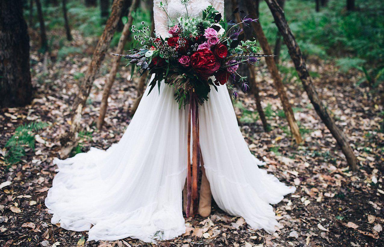 A boho forest wedding hayley callum forest wedding boho and