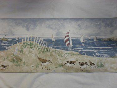 Norwall Seaside Beach Design Wallpaper Border Beach Themed Wallpaper Beach Design Seaside Beach