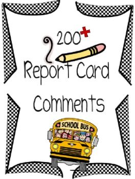 Report card comments primary math report comments and report writing free for limited time only starting sept 2 updated nov 4th more comments updated may 20th more comments for term 3 please redownload fandeluxe Images
