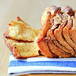 Cinnamon Sugar Pull-Apart Bread. Recipe with step-by-step pictures...