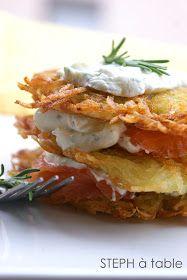 stephatable: Röstis saumon fumé et crème à l'aneth