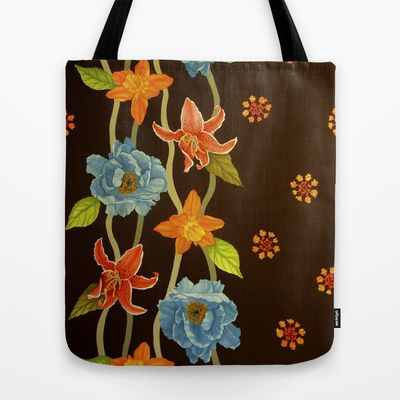 Vintage Flowery Serpentine Design is available in various products, like this Tote Bag by Pommy New York - $22.00 on society6.com