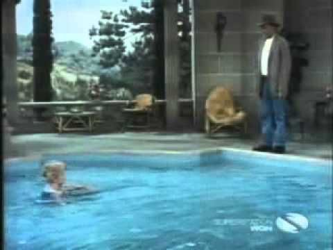 Video clip of beverly hillbillies show featuring elle mae 39 s bathing suit shrinks by for Beverly hillbillies swimming pool