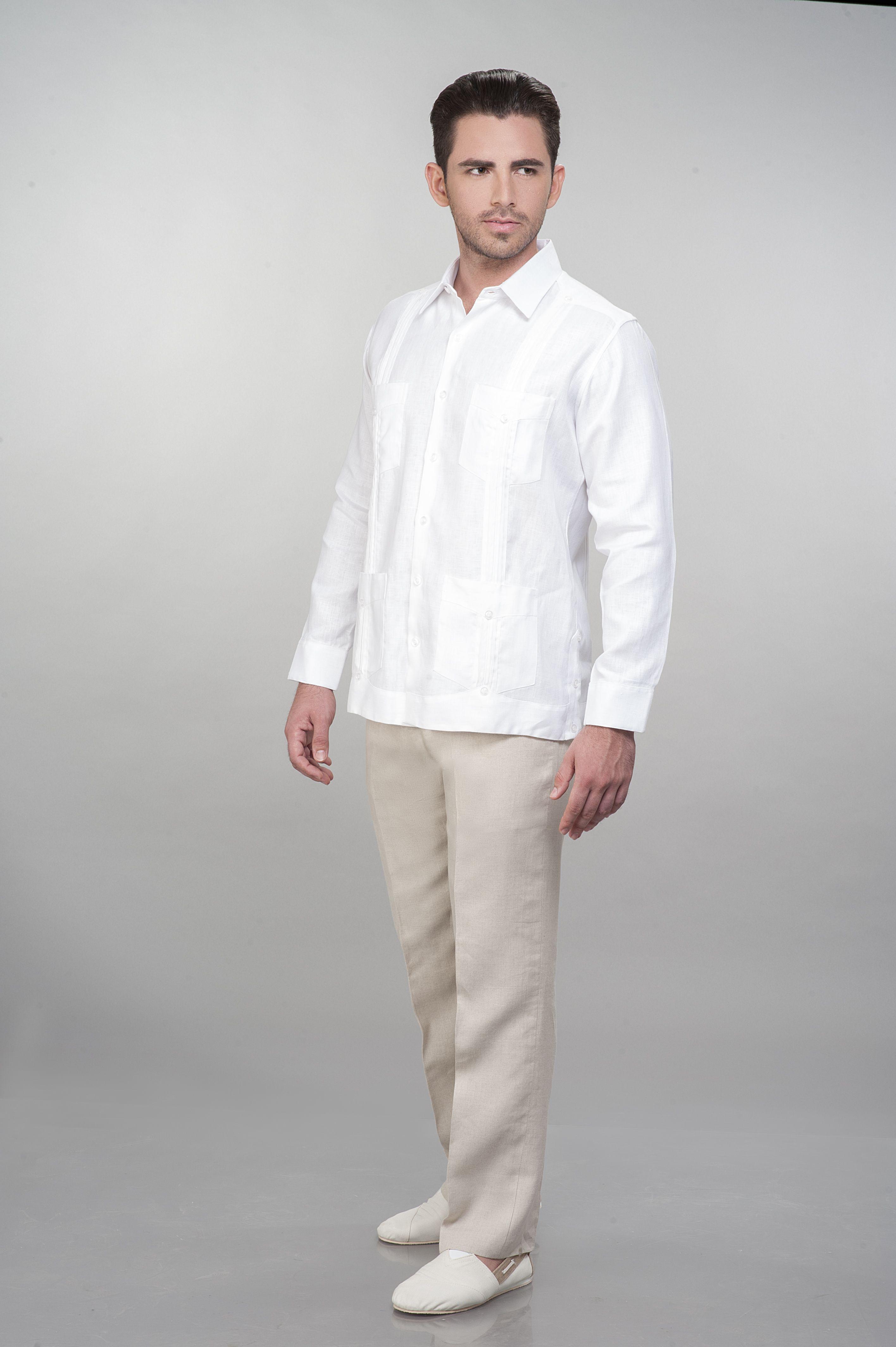 176ce80b09 Guayabera de lino blanco