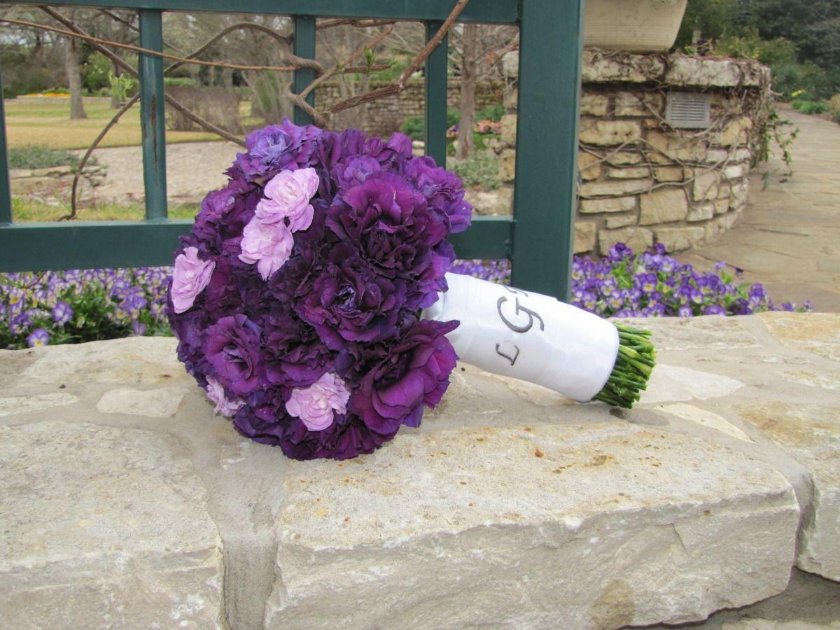 This Beautiful Bouquet Is Entirely Purple Lisianthus With
