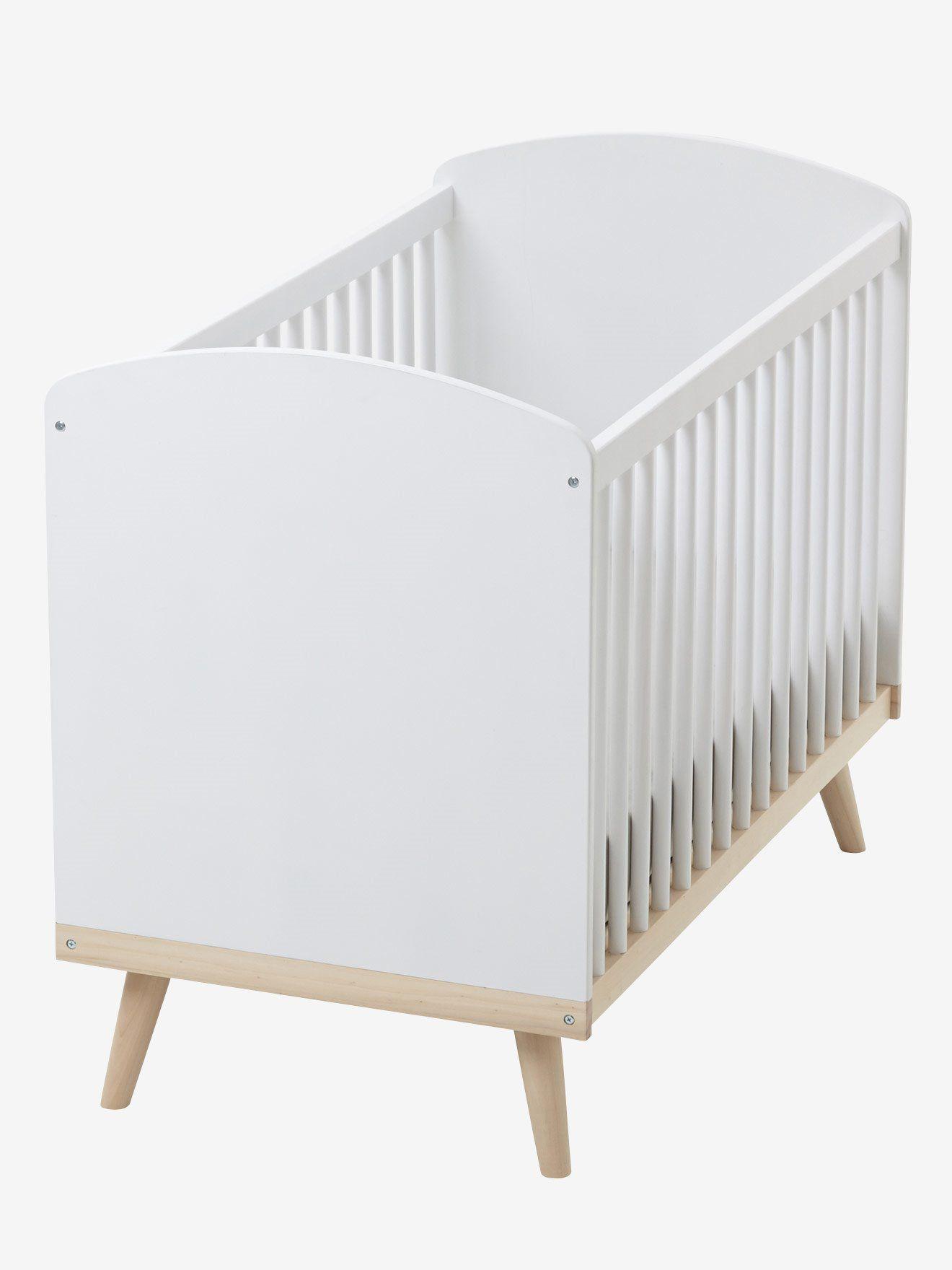 Babybett Konfetti Mit Hohenverstellbarem Lattenrost Von Vertbaudet In Weiss Natur Nur 2 95 Versand Kinderzimmer Jetzt Bei Vertba Babybett Lattenrost Bett