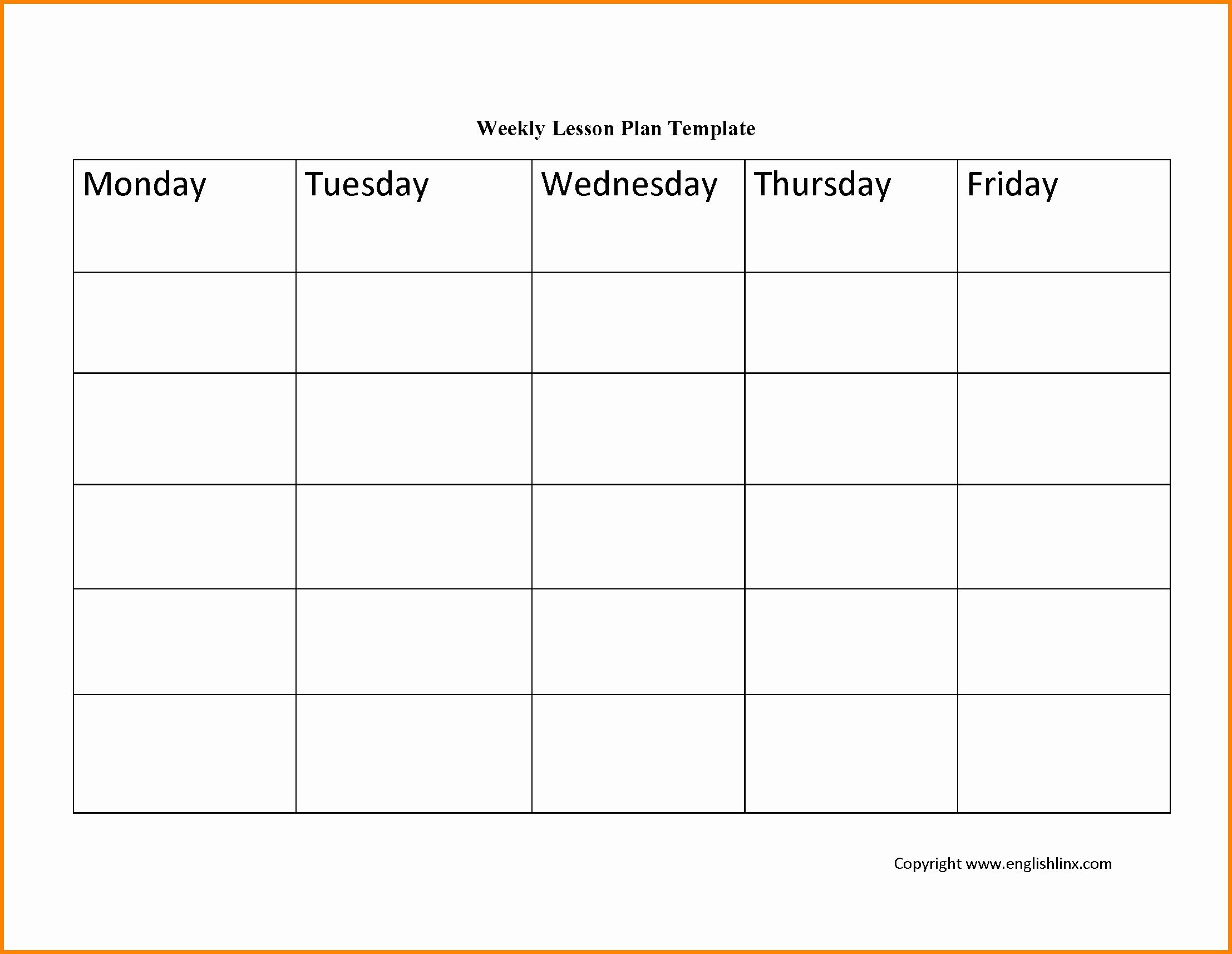 Editable Weekly Lesson Plan Template in 2020 (With images