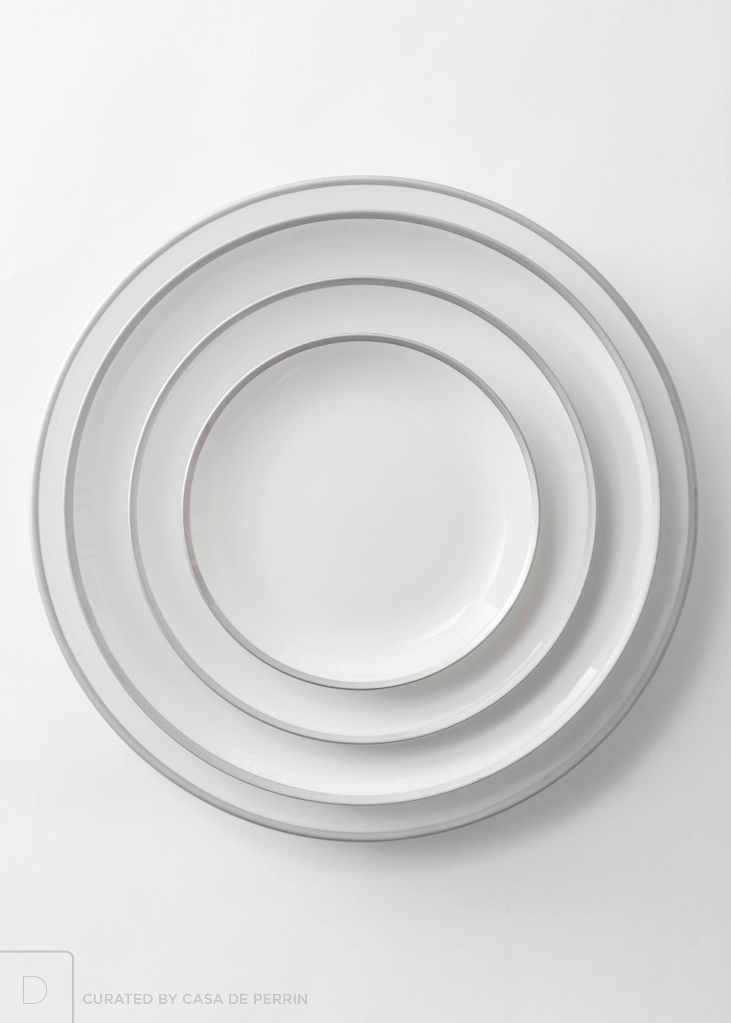 Maison Collection | Brushed Silver. Dessert PlatesDinner ...