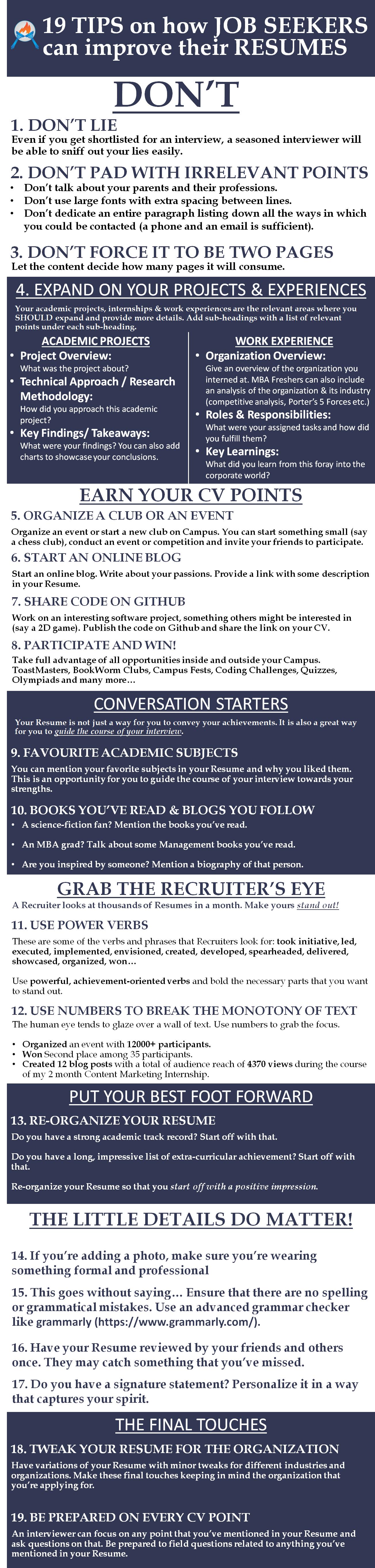 make a great eye catching resume https learningpundits com