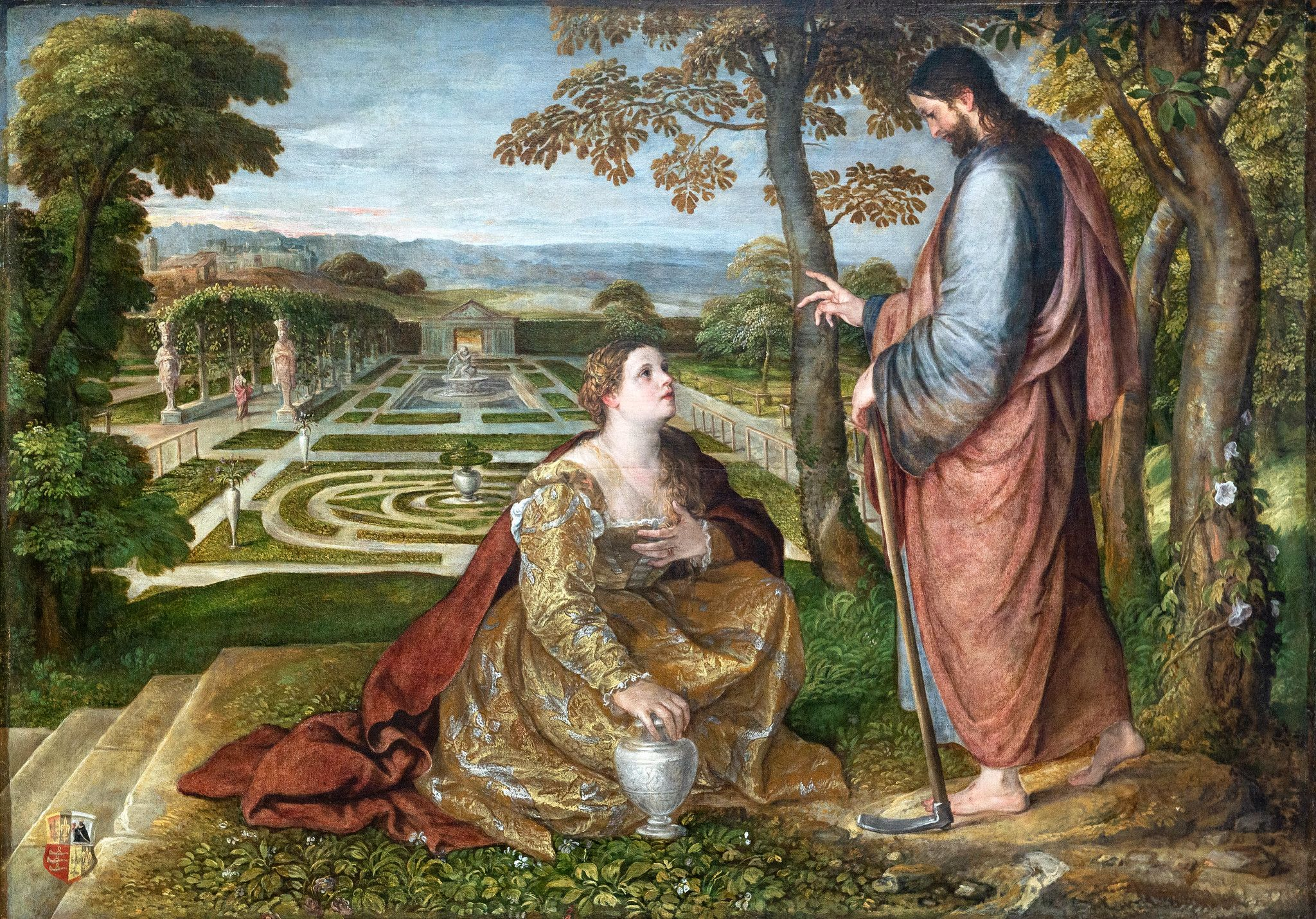Noli Me Tangere Lambert Sustris Palais Des Beaux Arts De Lille In 2020 Noli Me Tangere Garden Painting Art