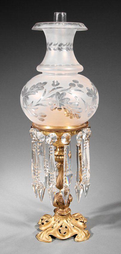 american gilded solar lamp marked corenlius lot 876 you light
