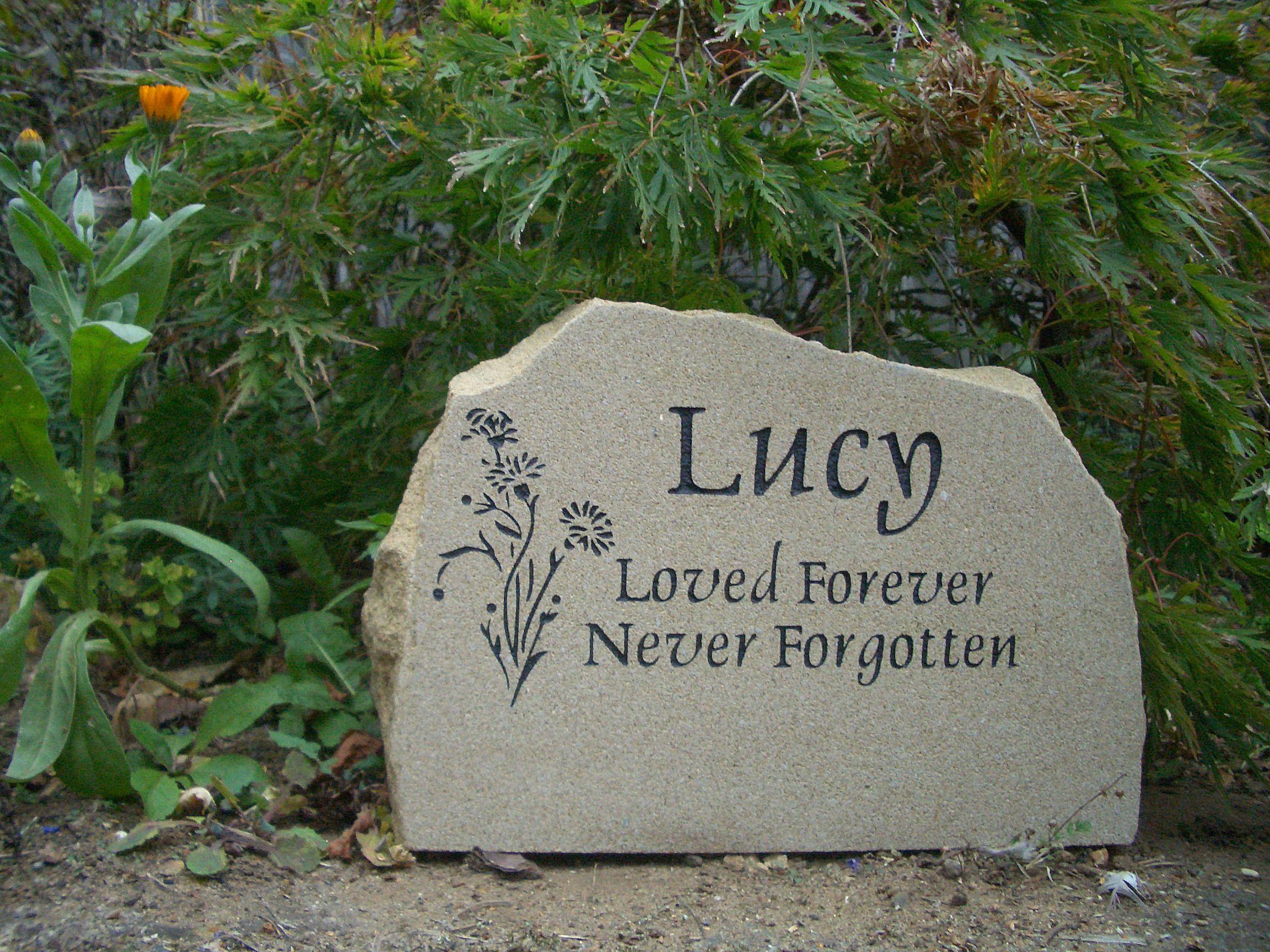 Funky Pet Memorial Garden Stones Component - Beautiful Garden ...