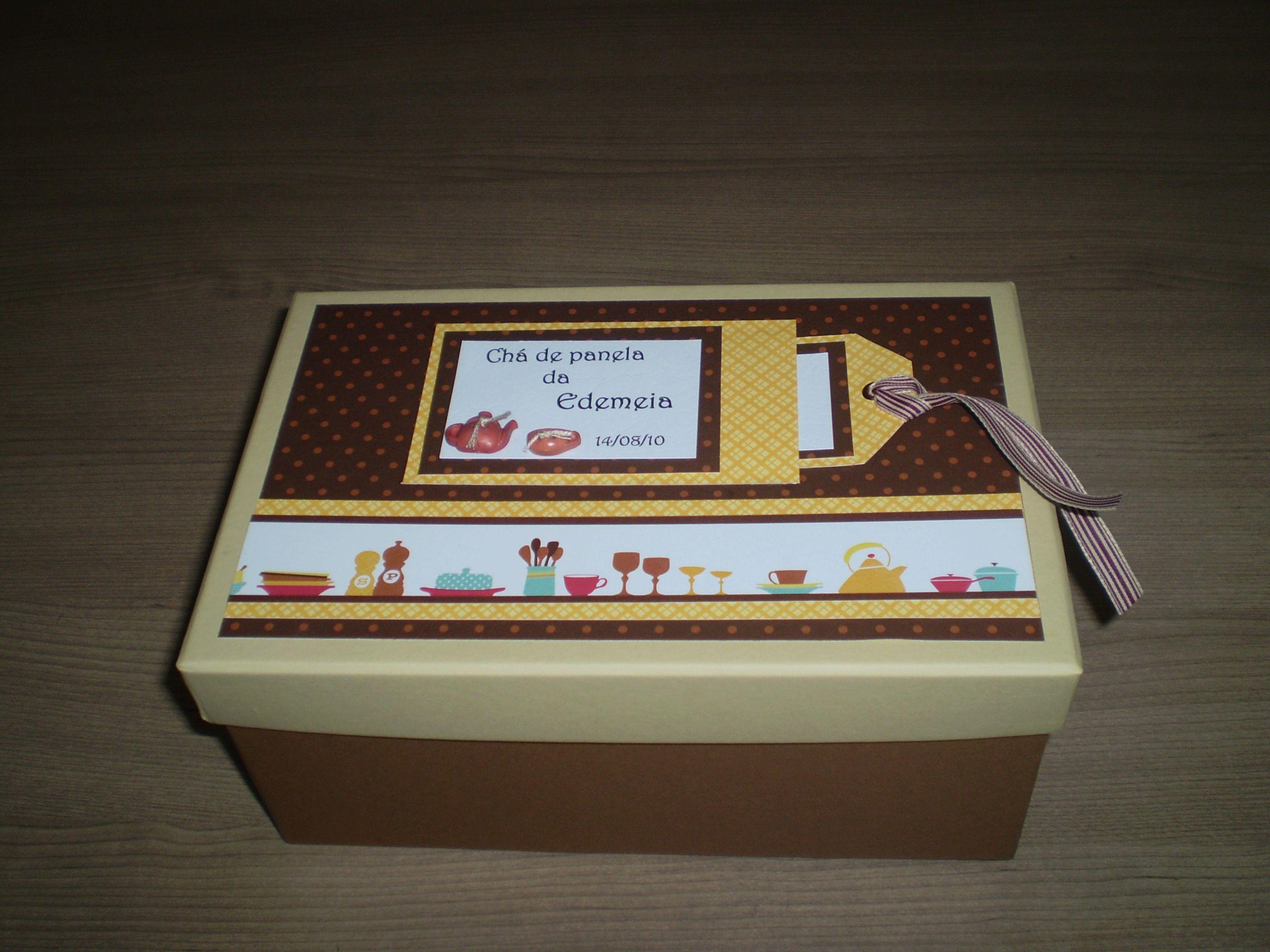 caixa para convites Chá de panela