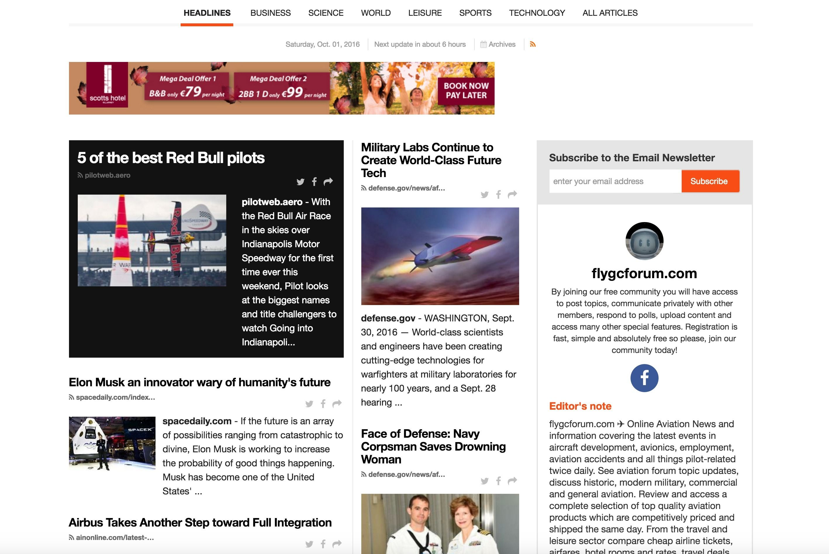 Aviation news and information covering the latest events in