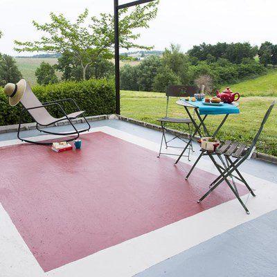 Donnez L Illusion D Un Tapis Sur Le Sol En Beton De Votre Terrasse
