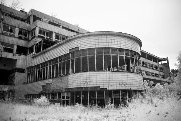 Picyures of old abandoned sanitariums   ... Solarium - Sanitarium Joseph Lemaire at Opacity: Abandoned Photography