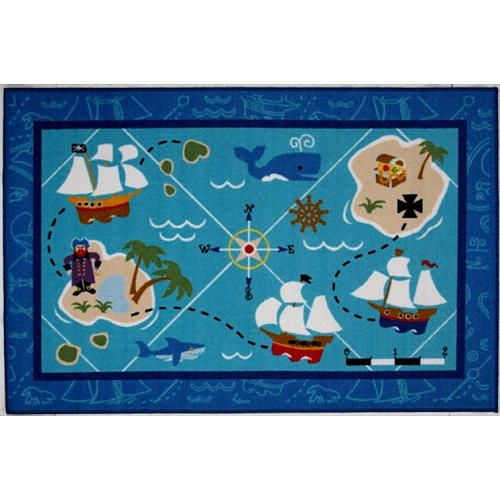 X Inch Pirates Fun Rug La Rug Toys R Us For Baby - Map rug babys r us