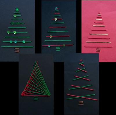 hasenklasse geometrisches sticken zu weihnachten. Black Bedroom Furniture Sets. Home Design Ideas