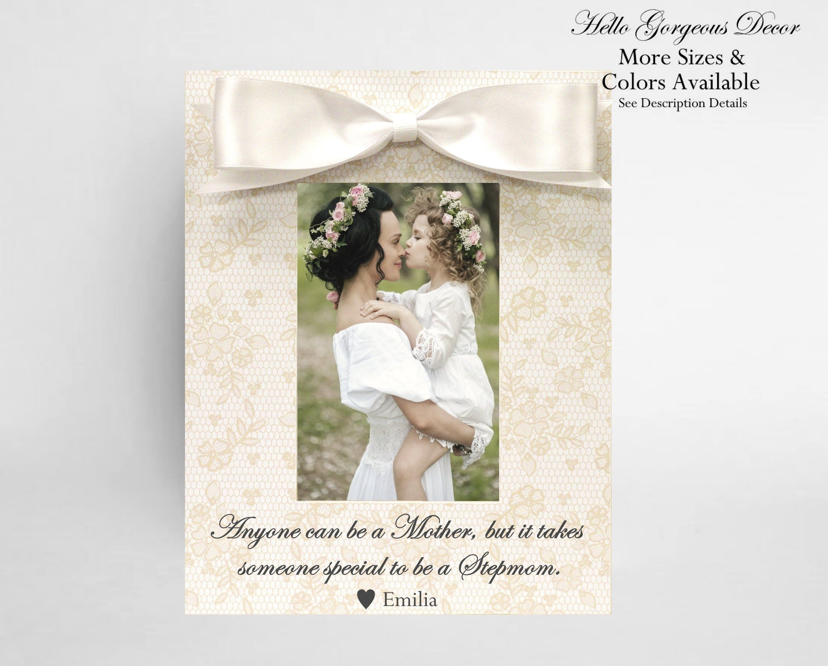 Mother's Day Gift Stepmom Frame Gift for Stepmother   Etsy ...