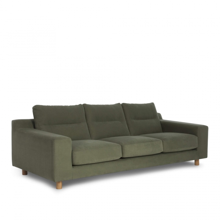Nuno 3 Seater Sofa Moss Green Sofas Furniture Sofa