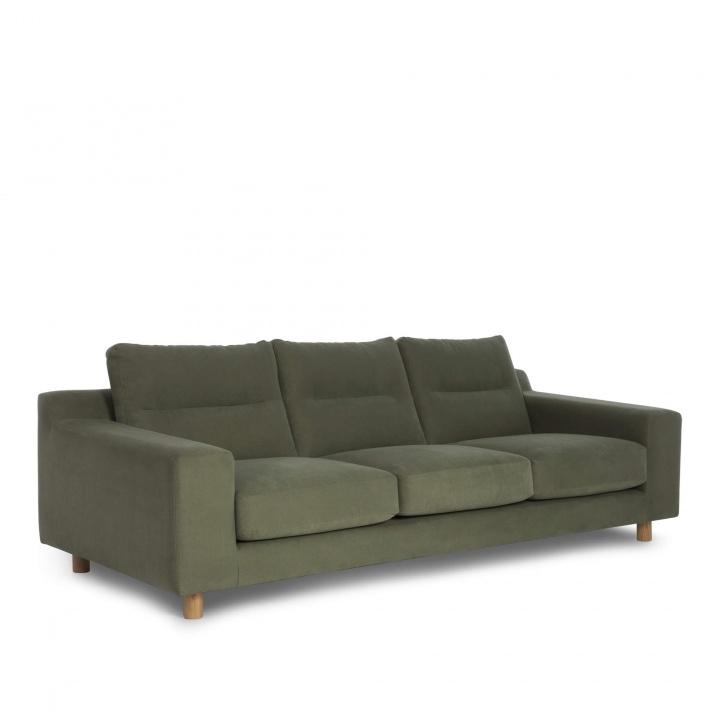 Nuno 3 Seater Sofa Moss Green Sofas Furniture Sofa