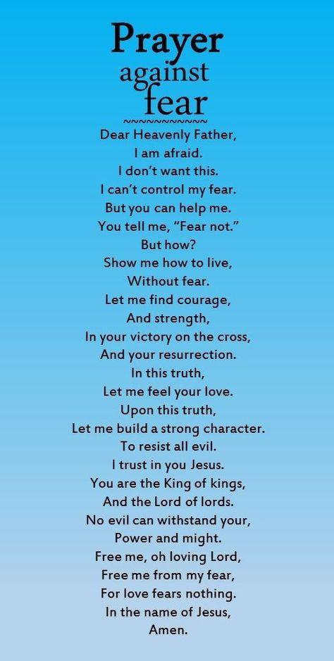 Prayer against fear