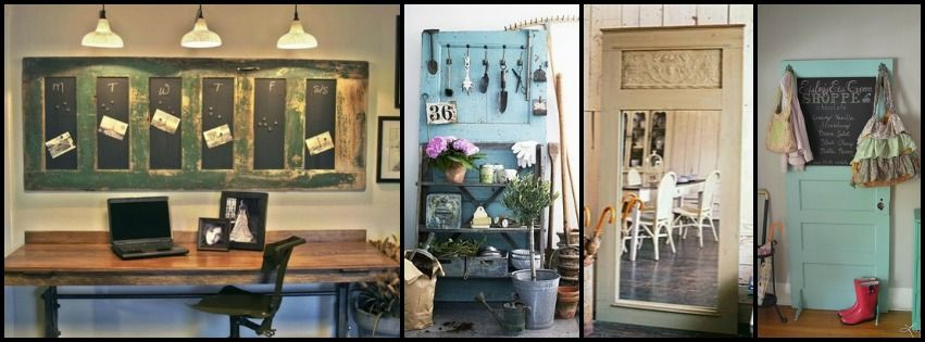 reciclar puertas antiguas para decorar
